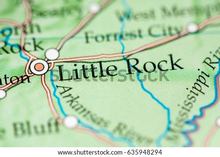 North Little Rock Stock Images RoyaltyFree Images Vectors - Little rock usa map