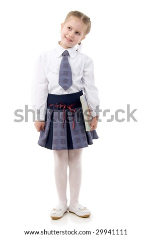 Little Schoolgirl With A Book