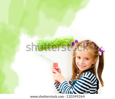 little smiling girl with a - stock photo