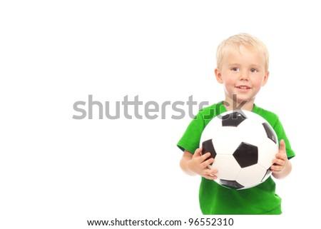 Little soccer player - stock photo