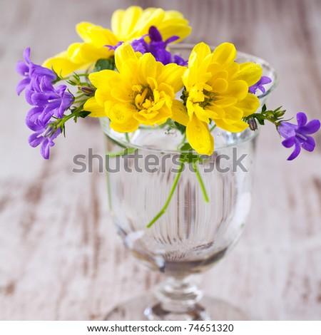 Little spring flower bouquet - stock photo