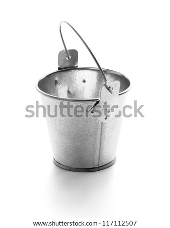 Little Tin Bucket isolated on white background