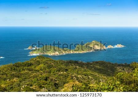 Little Tobago off the coast of Tobago - stock photo