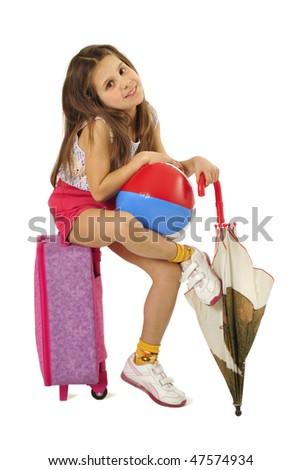 Little tourist - stock photo
