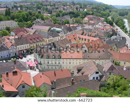 Little Town of Melk, Austria Near Vienna
