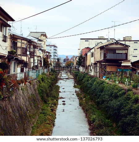 Little village in Kyoto. Shoot at 2012 summer time.