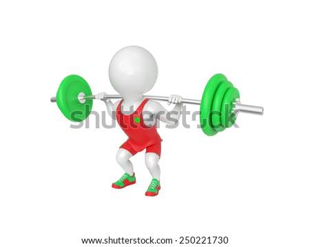 Little white athlete - stock photo