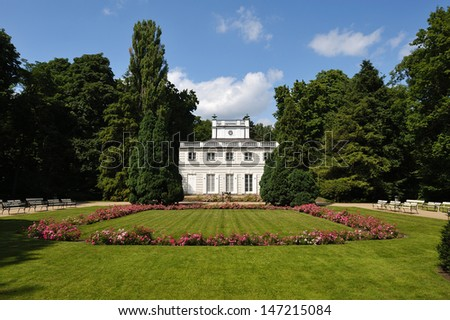 Little White House in Royal Baths Park, Warsaw, Poland.