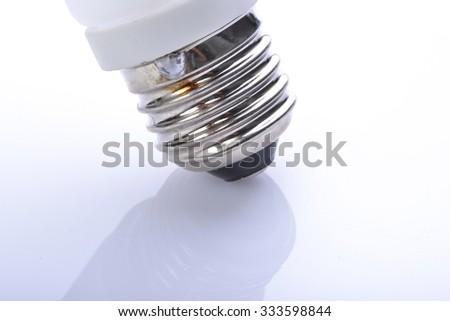 Little white light bulb - stock photo