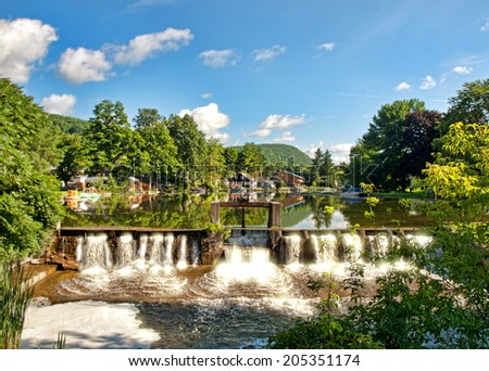 Little York Lake, Preble, New York - stock photo