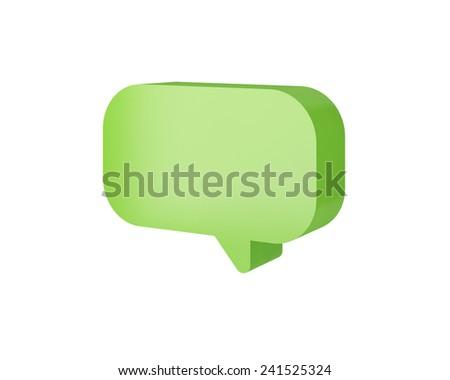 live chat speech balloons icon illustration - stock photo