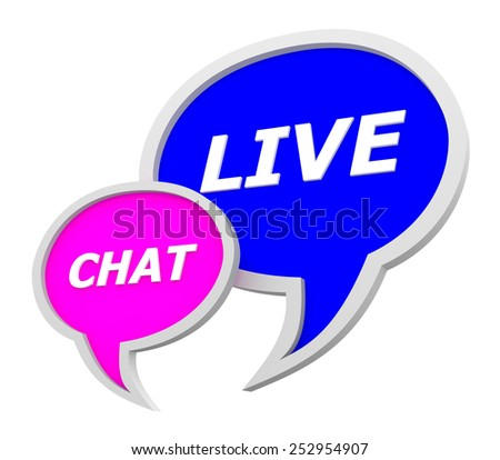 Live chat speech bubble icon isolated on white background