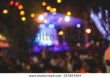 Live concert gig during Christmas outdoor event  - stock photo