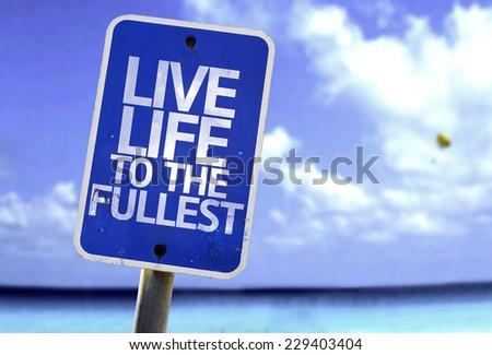 Live Life to the Fullest! (bumper sticker) Car Bumper Sticker | Zazzle