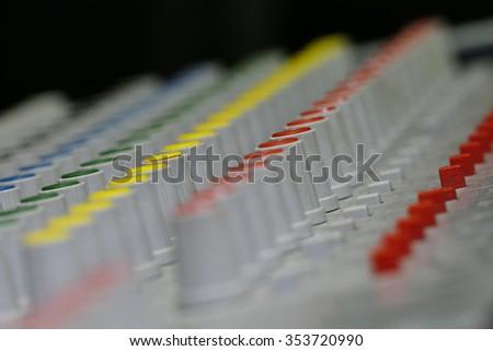Live Mixing Desk  - stock photo