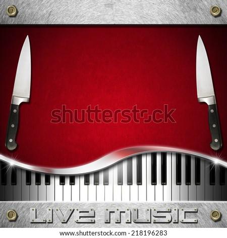live music food menu red velvet stock illustration 218196283