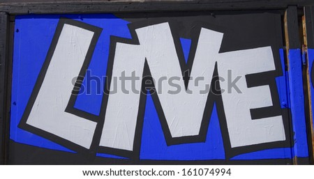 Live Sign - stock photo