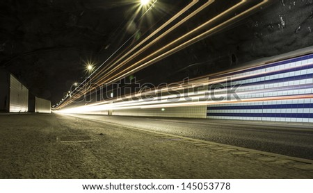 live traffic - stock photo