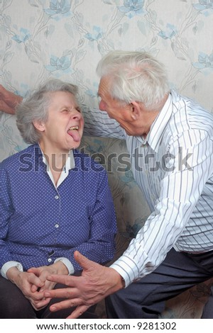 live view how senior couple play the fool