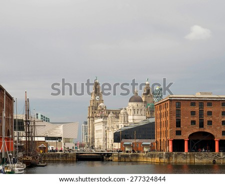 Liverpool albert Dock and Historic architecture - stock photo