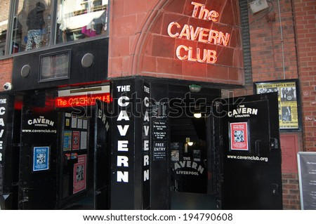 LIVERPOOL - April 5: the entrance to the Cavern Club in Liverpool, UK on April 5, 2012. The Cavern Club is famous for where The Beatles played in the early 1960s. - stock photo