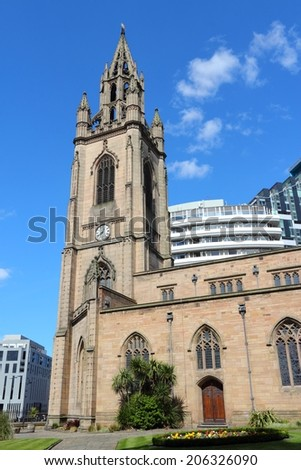 Liverpool - city in Merseyside county of North West England (UK). Our Lady and Saint Nicholas church.