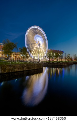 Liverpool Echo Arena and ferris wheel