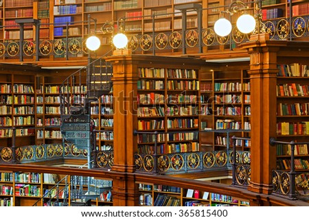 LIVERPOOL 16TH JANUARY 2016. Picton Reading Room inside Liverpool Central Library. LIVERPOOL UK - stock photo