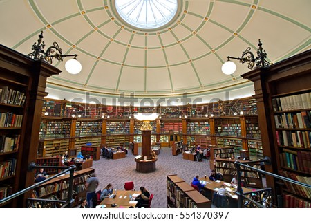 LIVERPOOL UK 4th JANUARY 2017. Picton Reading Room inside Liverpool Central Library. LIVERPOOL UK