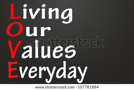living our values everyday symbol