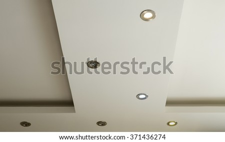 living room ceiling halogen spots