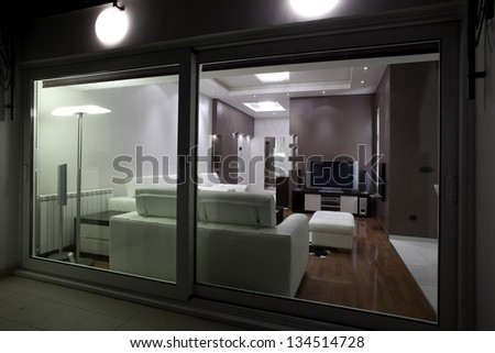 Living room from outside