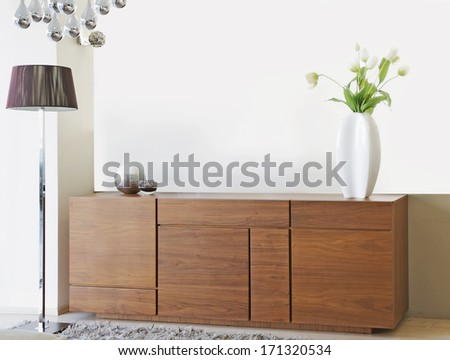 living room furniture - stock photo