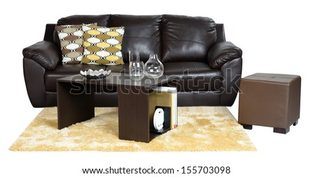 Living room furniture. Isolated - stock photo