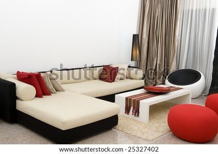 Living room in a condominium