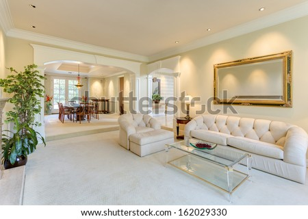 Living room in a luxury house - stock photo