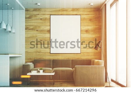 Living Room Studio Apartment Wooden White Stock Illustration ...