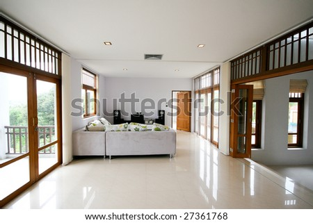 Living room interior of a modern home. - stock photo
