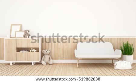 Living Room Kid Room Rendering Stock Illustration