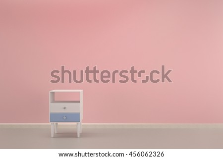 Living Room Pink Rose Wall Two Stock Illustration 456062326 ...