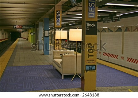 Livingroom in a Subway Station