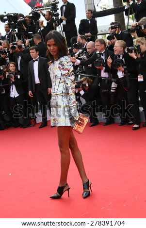 Liya Kebede  attends the opening ceremony and 'La Tete Haute' premiere during the 68th annual Cannes Film Festival on May 13, 2015 in Cannes, France. - stock photo