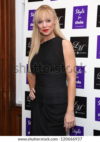 Liz McClarnon arriving for the Style for Stroke Party, 5 Cavendish Square, London. 02/10/2012 Picture by: Henry Harris