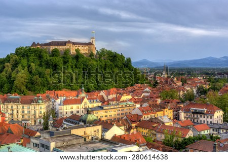 Ljubljana , Slovenia - stock photo
