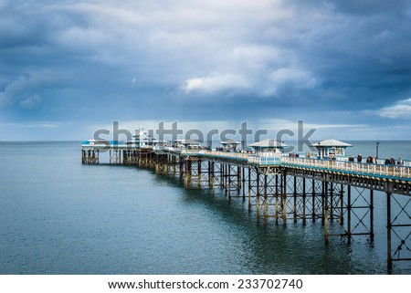 Llandudno Pier is a pier in the seaside resort of Llandudno on the coast of North Wales between Bangor and Colwyn Bay. Captured at  24.10.2014