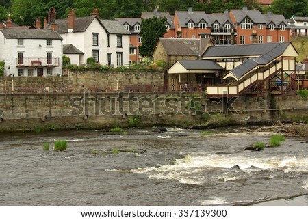 LLANGOLLEN, ENGLAND - June 17, 2013: View of Llangollen