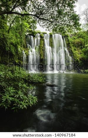 Llano de Cortez Waterfall located in Costa Rica. - stock photo