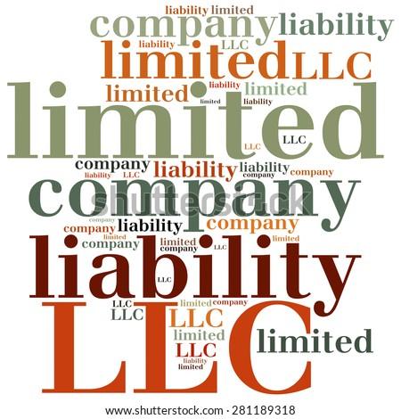 LLC. Limited liability company. Business abbreviation. - stock photo
