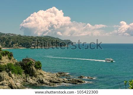 Lloret De Mar, Coastal scene, Costa Brava; - stock photo