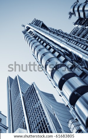 Lloyds of London and Willis Building in City of London.